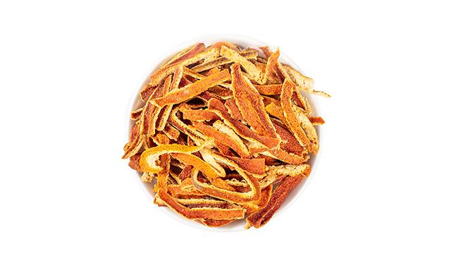 1.Dried orange peel