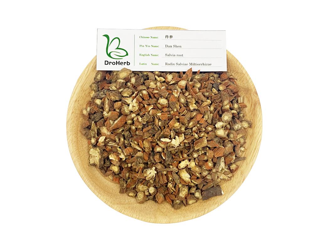 Medical herb dried radix salviae miltiorrhizae dan shen red sage